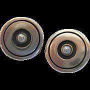 Lisa Jenks Modernist Sterling Silver 925 Clip Earrings with Pearl