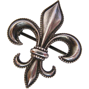 Sterling Silver 925 Fleur de Lis Watch Pin