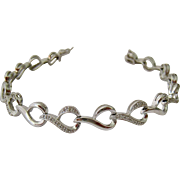 Sterling Silver 925 Diamond Link Bracelet