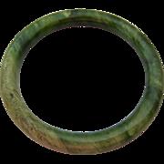 Green Gemstone Bangle Bracelet