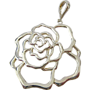 Sterling Silver 925 Open Flower Pendant - Red Tag Sale Item