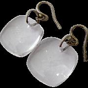 Sterling Silver 925 Rock Crystal Dangle Earrings