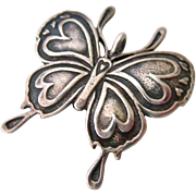 Sterling Silver 925 Butterfly Pendant or Brooch Pin Signed H&H