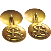 14K Gold Cuff Links 10.6 Grams Bloomed Gold Unisex