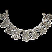 Trifari Silver Tone Bracelet Cha Cha Style Dangles Impressive