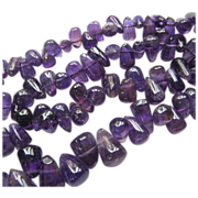 Amethyst Teardrop Bead Necklace 17 Inches