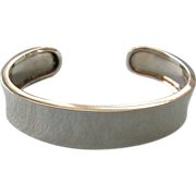 Sterling Silver 925 Cuff Bracelet Simple Elegant Design