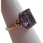 10K Gold Color Change Sapphire Ring Lab Created