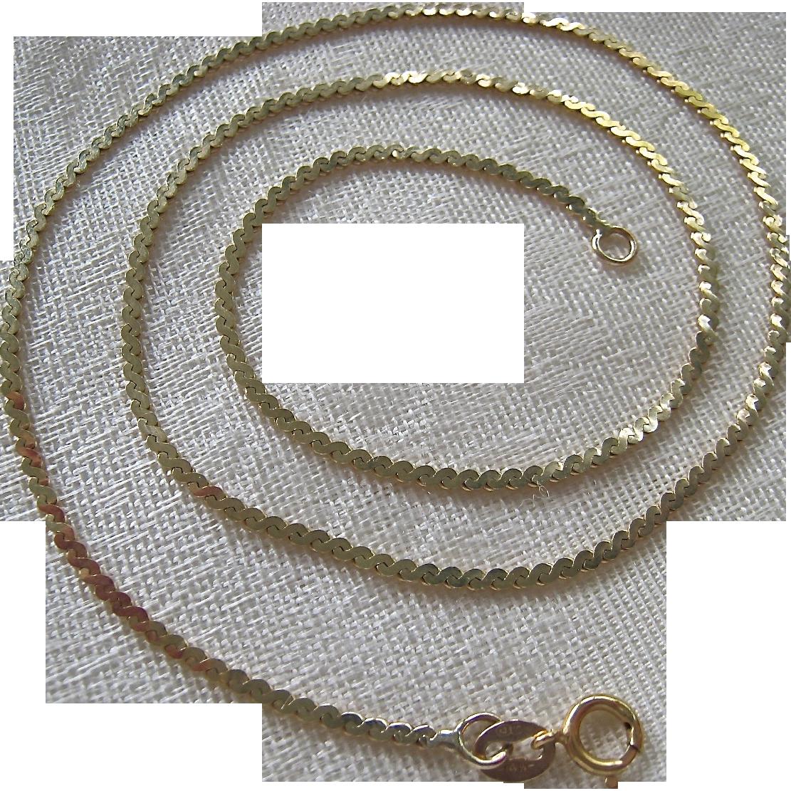 14k Gold Serpentine Chain Necklace From Susabellas On Ruby. Ruby Red Gemstone. Light Blue Sapphire. Cardiac Bracelet. Hindi Bracelet. Unique Gold Bracelet. Bar Earrings. Sterling Silver Diamond Bangle Bracelet. Bronze Stud Earrings