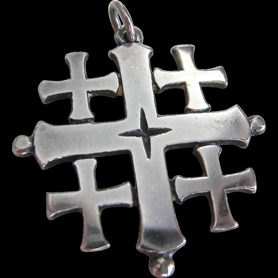 James avery sterling silver 925 jerusalem cross pendant retired sold james avery sterling silver 925 jerusalem cross pendant retired sold ruby lane aloadofball Images