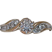 10K Gold Diamond Ring Engagement Promise Right Hand