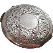 Birks Sterling Silver 925 Compact Floral Etched