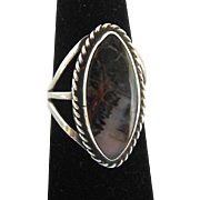 Sterling Silver 925 Jasper Ring Interesting Pattern Colors