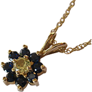 14K Gold Gemstone Pendant Necklace