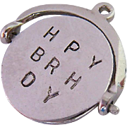 "Sterling Silver 925 Spinning Mechanical Charm ""Happy Birthday"""