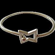 Sterling Silver 925 Hook-On Bangle Bracelet