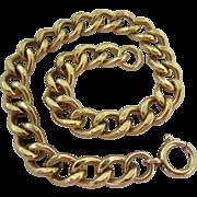 12K Gold Filled Curb Link Starter Charm Bracelet