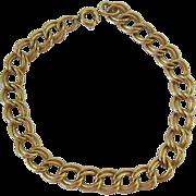 12K Gold Filled Double Link Starter Charm Bracelet
