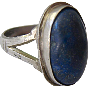 Silver and Lapis Ring Classic Style