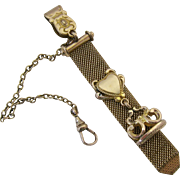 Vintage Mesh Watch Chain Fob and Clip