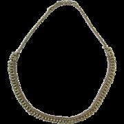 Silver Fringe Adjustable Necklace Possible Arabic Hallmarks