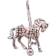 Sterling Silver 925 Carousel Horse Pendant