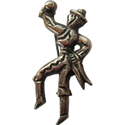 Old Mexican Silver Pre-Eagle Mariachi Man Pin Brooch - Red Tag Sale Item