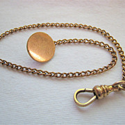 Bates & Bacon B & B Watch Chain Gold Filled 9 Inches - Red Tag Sale Item