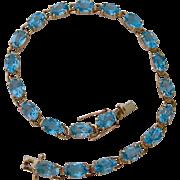 10K Gold Blue Topaz Bracelet
