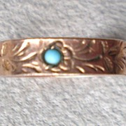 Fabulous Engraved Victorian Child's Ring
