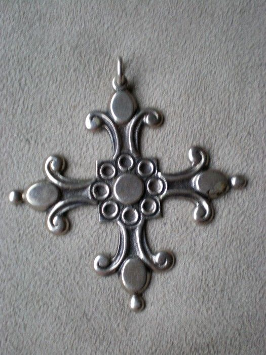 Magnificent 800 Silver Cross Pendant