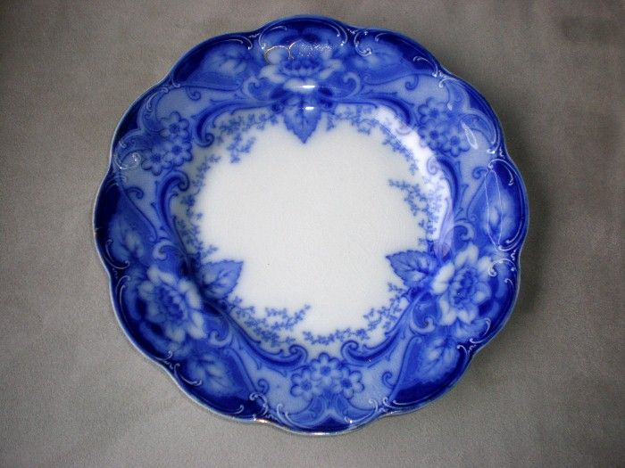 "Fabulous Johnson Bros. Flow Blue ""Argyle"" Plate"