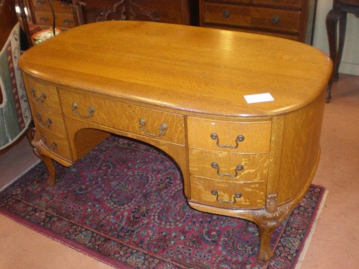 Stunning Early 1900's Oak Partners Desk - Stunning Early 1900's Oak Partners Desk From Diamondantique On