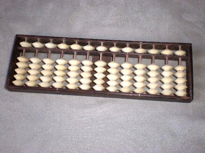 Fun Asian Bamboo and Bone Abacus