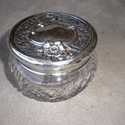 Wondreful Sterling Silver and Crystal Dresser Jar