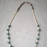 Wonderful Turquoise Nugget and Shell Bead Necklace