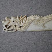 """Fabulous Carved Bone """"Dragon"""" Letter Opener"""