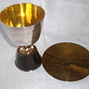 Magnificent German Sterling Silver Communion Set w/ Presentation Box