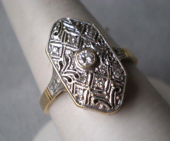 Stunning 14k Gold and Diamond Ring