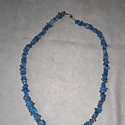 Beautiful Tumbled Natural Lapis Necklace