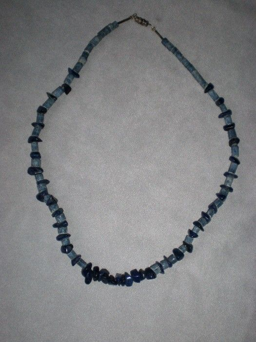 Fabulous Natural Lapis and Sodalite Bead Necklace