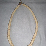 Fabulous African Heishi Ostrich Shell Necklace