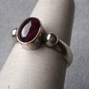 Beautiful Sterling Silver and Garnet Ring