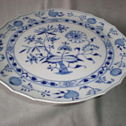 "Magnificent Meissen ""Blue Onion"" 13"" Cake Stand"