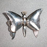 Charming Mexican Sterling Butterfly Pin