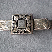 Early Mexican Sterling Tie Clasp - Guadalajara