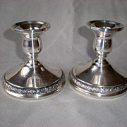 "Gorgeous International Silver ""Prelude"" Candle Holders"