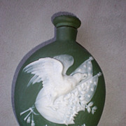 Wonderful Vintage Schafer & Vater Jasper Ware Flask