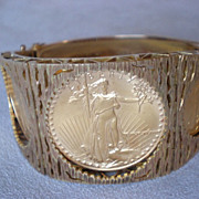 Stunning American Gold Eagle Coin Bracelet