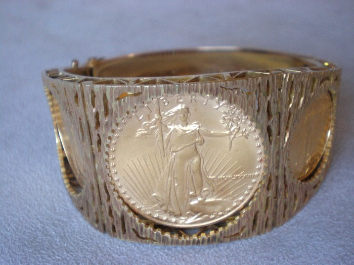 Stunning American Gold Eagle Coin Bracelet From